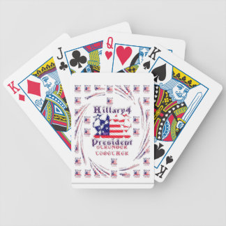 Beautiful Amazing Hillary USA Election Flag Color Bicycle Playing Cards