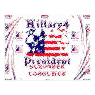 Beautiful Amazing Hillary USA Election Flag Color Postcard