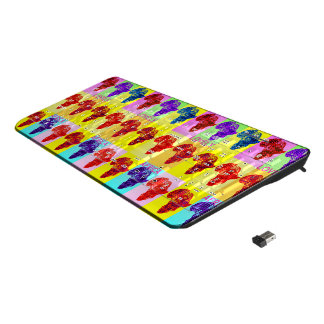 Beautiful Amazing Lovely Colorful Mama Africa Wireless Keyboard