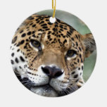 Beautiful Amazon jaguar Double-Sided Ceramic Round Christmas Ornament