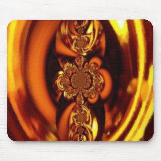 Beautiful Amber Fractal Artwork Mouse Pad