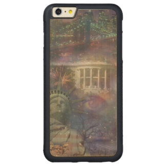 Beautiful America - Land of the Free Carved Maple iPhone 6 Plus Bumper Case