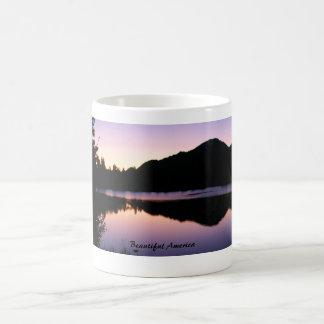 Beautiful America: Sunrise on Sprague Lake Classic White Coffee Mug