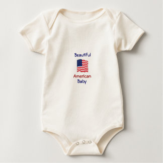 Beautiful American Baby Patriotic Snuggly Baby Bodysuit