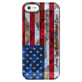 Beautiful American Flag 5/5s Monogram Clear iPhone SE/5/5s Case