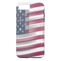 Beautiful American Flag waving iPhone 7 Plus Case
