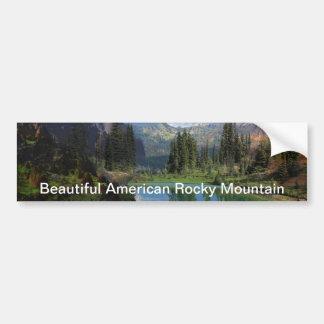Beautiful American Rocky Mountain  Greeting Cards Bumper Sticker
