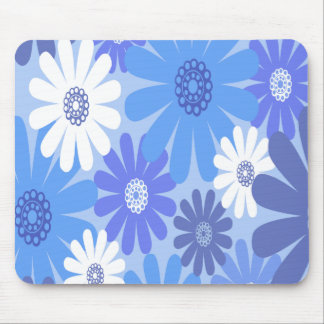 Beautiful and Blue Flowers Mouse Pad
