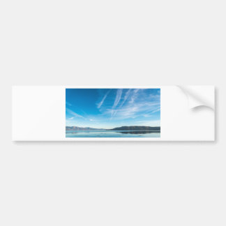 Beautiful and calm lake bumper sticker