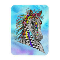 """Beautiful and Colorful Horse Magnet 3""""x4"""""""
