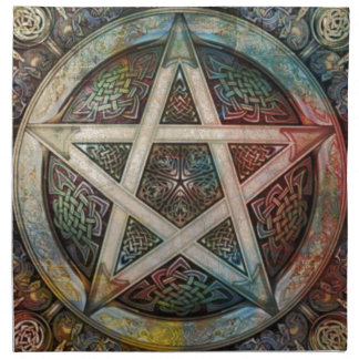 Beautiful And Colorful Pagan Pentacle Cloth Napkin