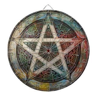 Beautiful And Colorful Pagan Pentacle Dartboard
