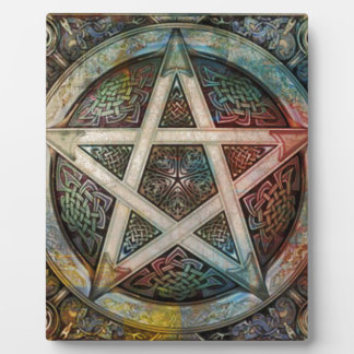 Beautiful And Colorful Pagan Pentacle Plaque