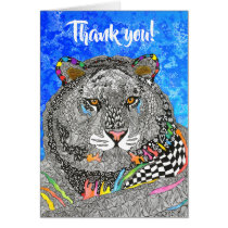 Beautiful and Colorful Tiger Greeting Card