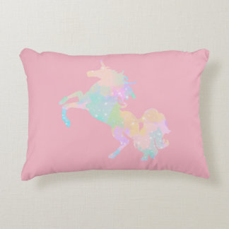 Beautiful and colorful unicorn accent pillow