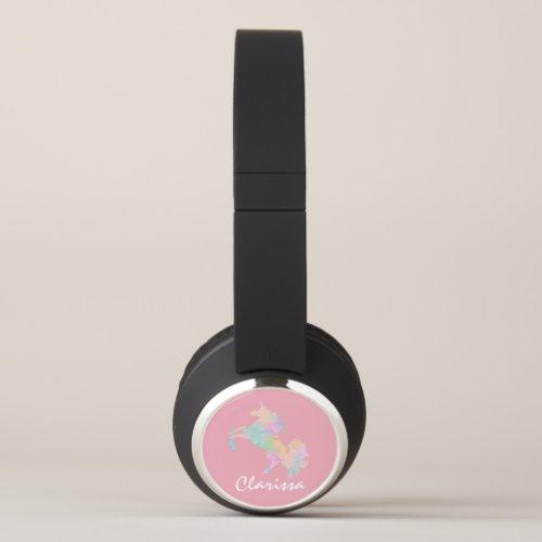 Beautiful and colorful unicorn headphones