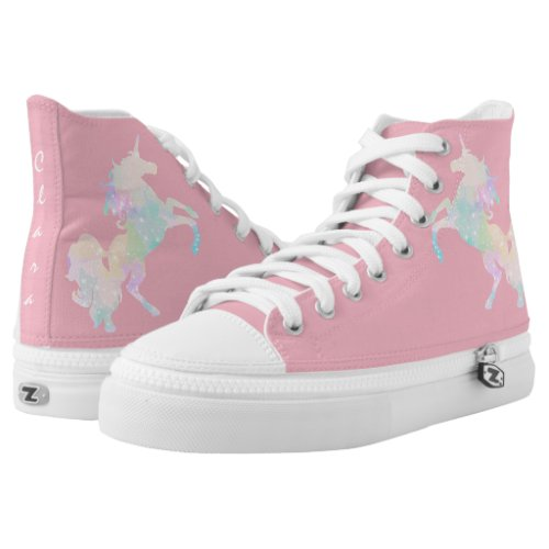 Beautiful and colorful unicorn High-Top sneakers
