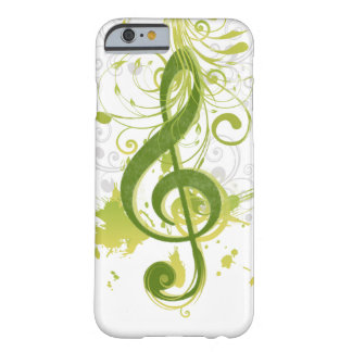Beautiful and cool music notes with splatter barely there iPhone 6 case
