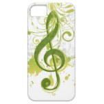 Beautiful and cool music notes with splatter iPhone 5 cases