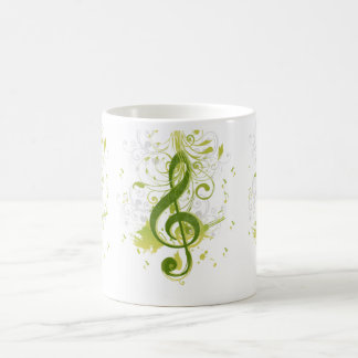 Beautiful and cool music notes with splatter coffee mug