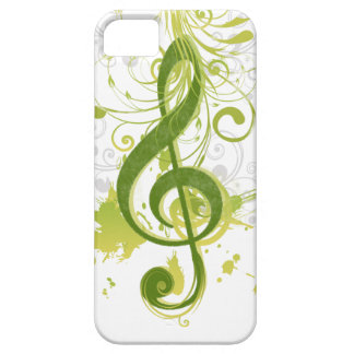 Beautiful and cool music notes with splatter iPhone SE/5/5s case
