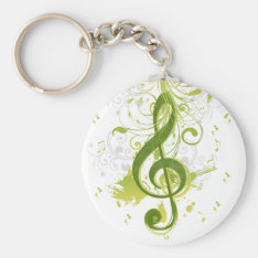 Beautiful And Cool Music Notes With Splatter Keychain at Zazzle