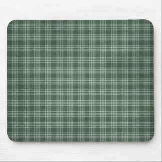 Beautiful and Dark Green Plaid Mouse Pad