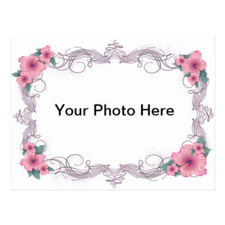 Beautiful and Elegant Floral Frame Postcard