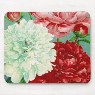 Beautiful and Elegant Vintage Peonies Mouse Pad