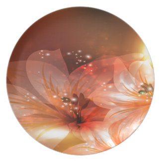 Beautiful and Orange Flowers Dinner Plate