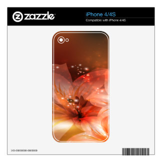 Beautiful and Orange Flowers iPhone 4S Decal
