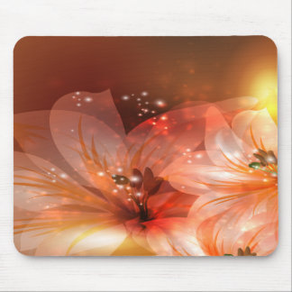 Beautiful and Orange Flowers Mouse Pad