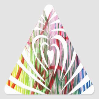 Beautiful and Original Modern HeART designs! Triangle Sticker