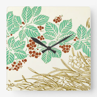 Beautiful and romantic square wall clock