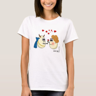 Beautiful and the Beast: love between two eggs T-Shirt