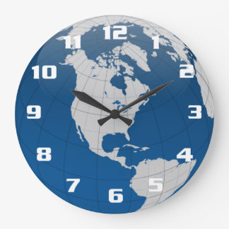 Beautiful and unique Earth and the globe Large Clock