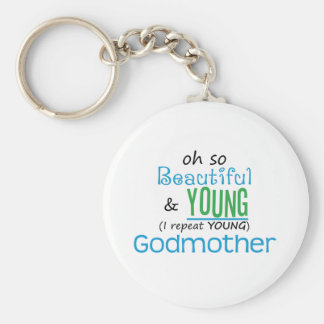 Beautiful and Young Godmother Keychain
