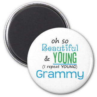 Beautiful and Young Grammy 2 Inch Round Magnet