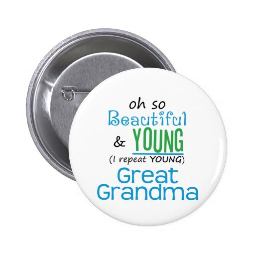 Beautiful and Young Great Grandma Button