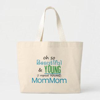 Beautiful and Young MomMom Jumbo Tote Bag