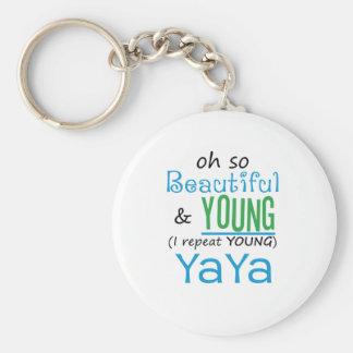 Beautiful and Young YaYa Keychain