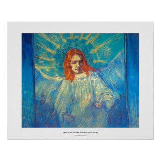 Beautiful Angel art glorious painting by Van Gogh Poster