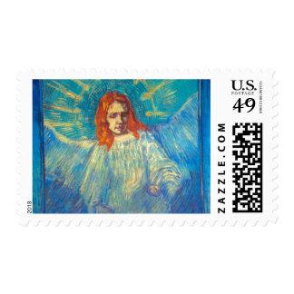 Beautiful Angel art glorious painting by Van Gogh Stamp