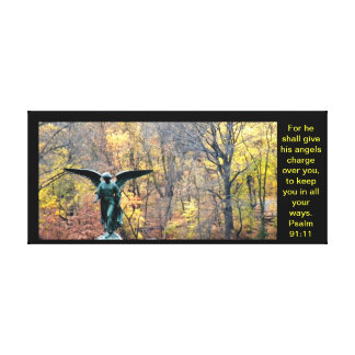 Beautiful angel canvas print Psalm 91:11
