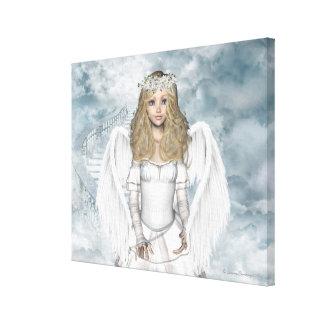 Beautiful Angel Celeste Portrait Wrapped Canvas Canvas Print