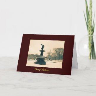 Beautiful Angel Christmas Card - Central Park card