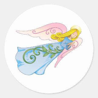 BEAUTIFUL ANGEL CLASSIC ROUND STICKER