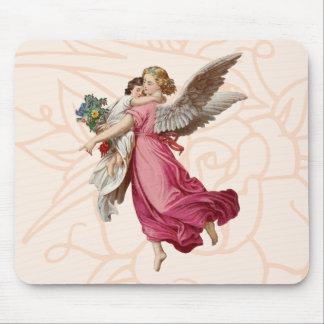 Beautiful Angel Cute Little Girl Mouse Pad
