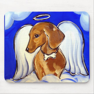 """Beautiful Angel Dachshund MousePads"" Mouse Pad"