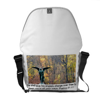 Beautiful angel Messenger Bag with Psalms 91:11